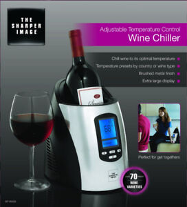 The Sharper Image bottle wine chiller