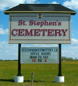 Cemetery Burial Plots, Niches, Monuments, Cremation Spaces