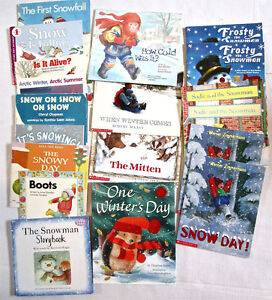 WINTER PACK- 36 BOOKS, FLOOR PUZZLES, STAMPS, BANNER ages 3 & up