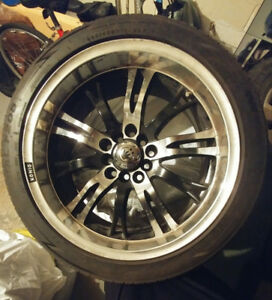 Four 225/45ZR18 95V summer tires with 4 König mags *negotiable*