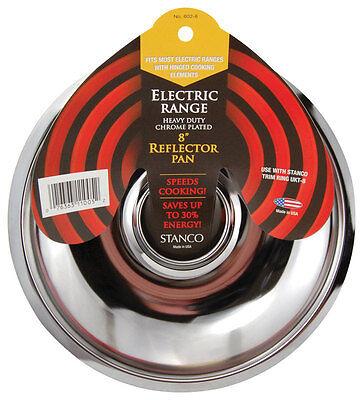 8 Chrome Reflector Pan (Stanco  Chrome-Plated Steel  Range Reflector Pan  8 in.,)