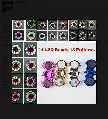 *US SELLER* NEW 18 Pattern Crome Batman fidget Spinner LED Halloween ADHD Autism