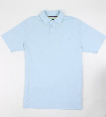 Cova Mens Premium Waverider Polo Henley S/S T-Shirt Baby Blue M New ()
