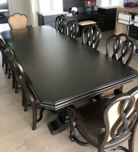 High End Luxury Dining Room Table and Chairs