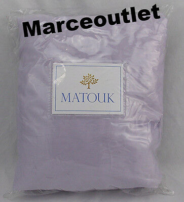 Matouk Nocturne 600 Thread Count Cotton Sateen KING Fitted Sheet Violet Lilac