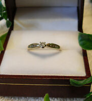 "10kt yellow gold ""Diamond Engagement Ring"" - Size 7"