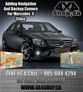 Adding Navigation gps backup camera mirror link Mercedes C class