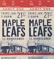 Leafs vs. Hurricanes First-Row Reds