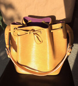 Authentic Louis Vuitton Petit Noe Canary Yellow