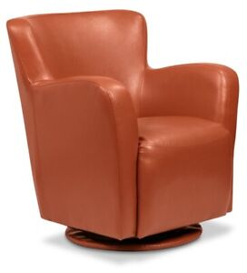 ZELLO Bonded Leather Swivel Accent Chair