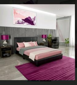Black Double Platform Bed