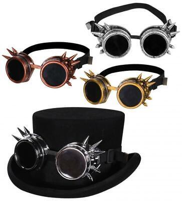 Retro Cyber Steampunk Brille Schweißer Fliegerbrille Flieger Kostüm Kleid Hut