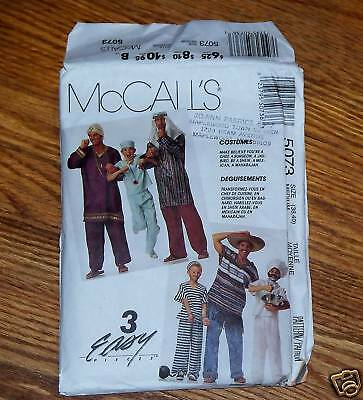 McCall's 5072 Prisioner Chef Doctor Shiek Maharajah Costume Pattern Adult Sz M](Prisioner Costumes)