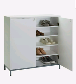 Brand new white shoe storage unit