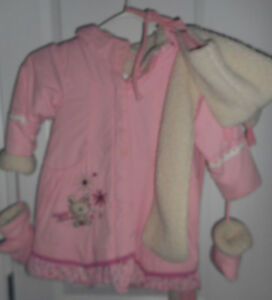 Girl's winter coat set size 24M