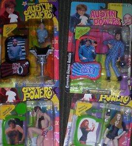 AUSTIN POWERS ACTION FIGURES mini me, shagwell, fat man, NEW! Kitchener / Waterloo Kitchener Area image 1