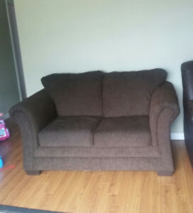Moving sale ** New Brown love seat for sale **