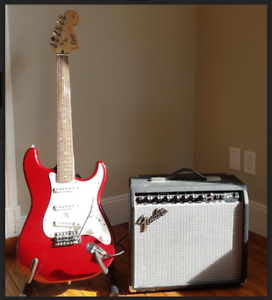 Fender Stratocaster Squire and Fender Amp