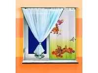 VOILE NET CURTAINS SCOOBY DOO OR SOFIA, brand new