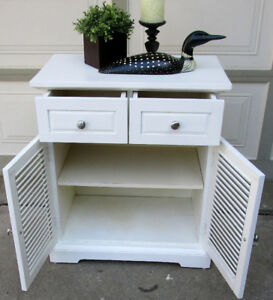 TODAY- PIER 1 PLANTATION CABINET/TABLE - GRT. COND