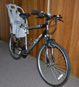 """Road Bike with a child seat (26"""" wheels, large frame)"""