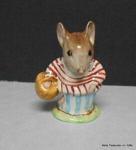 Beatrix-Potter-039-s-Mrs-Tittlemouse-Porcelain-Mouse-Beswick-Figurine-BP1a