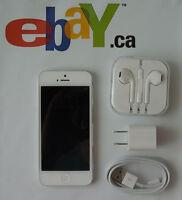 Apple iPhone 5 16GB GSM LTE White A1428 Telus Koodo Warranty S6