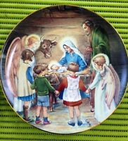 """1988 """"AWAY IN A MANGER"""" COLLECTORS PLATE - BY CICELY MARY BARKER"""