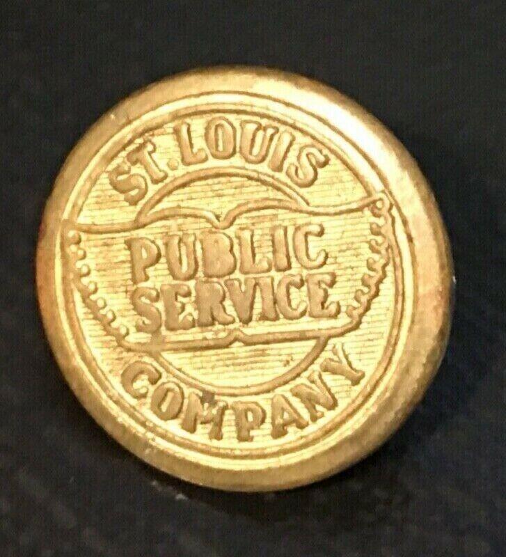 1 Vintage St. Louis Public Service Company Railroad uniform button