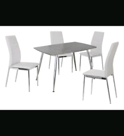 Brand New Dining Table with 4 PU Chairs