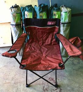 Coleman folding chairs XLarge (6) with cup holder