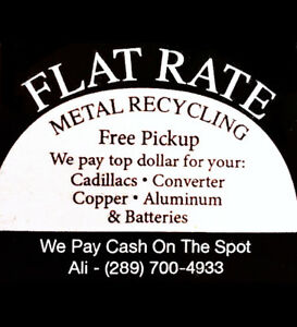 FLAT RATE FOR YOUR METAL RECYCLING - FREE PICKUP !!! $$$$$$