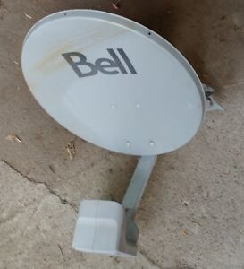 Bell satellite dish and dual LNB