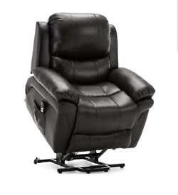 Black Dual motor Recliner and riser Armchair free local delivery