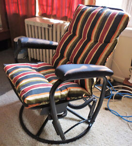 Reclining rocker/glider chair with footstool Kingston Kingston Area image 3