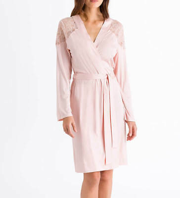 *BNWT* HANRO Fleur Modal & Silk Ladies Dressing Gown with Lace Detail 6406