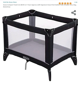 Graco foldable travel cot for kids upto 3 years old