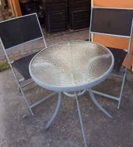 Patio Cafe table and chairs