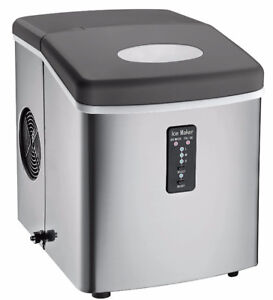 Igloo Counter Top Ice Maker with Over-Sized Ice Bucket,Stainless