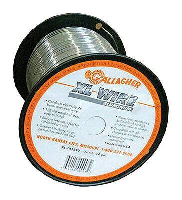 Gallagher 14 Gauge Aluminum 14 Mi. Electric Fence Wire 1320 Ft. Silver