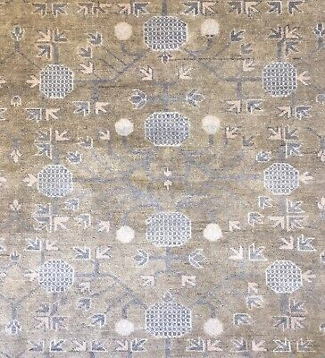 Intricate Indian - Vintage Khotan Rug - Samarkand East Turkestan - 10 x 14 ft.