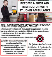 Become a First Aid + CPR Instructor with St. John Ambulance
