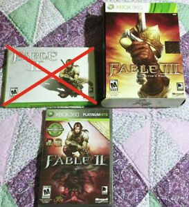 Fable Games, Xbox 360. Fable 2 & Fable 3