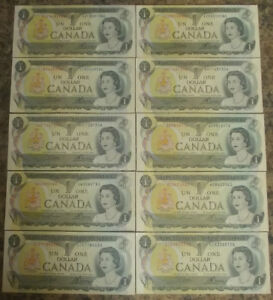Canadian One $1 Bills