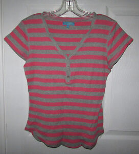 Cable & Gauge Pink Striped Top - Small
