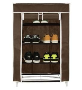 Multi-Purpose Portable Shoe, Toy/ Book Storage Covered Rack