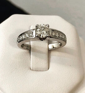 14k gold 1.12ct. diamond engagement ring / Certified at $5,000