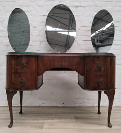 Queen Anne Style Dressing Table (DELIVERY AVAILABLE)