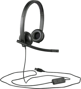 BNIB - Logitech USB H570e Corded Double-Ear Headset