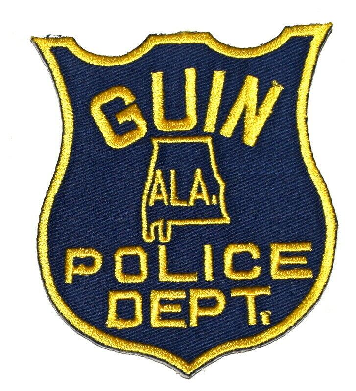"GUIN ALABAMA AL Sheriff Police Patch STATE SHAPE OUTLINE 3.5"" ~"